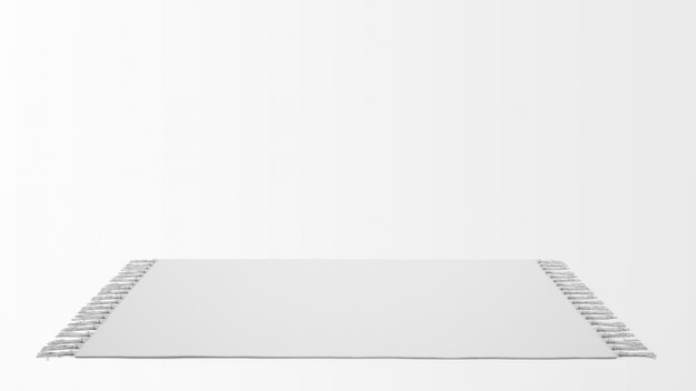 Реалистичный белый ковер