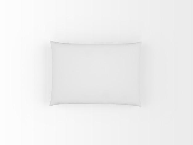 白で隔離される現実的な白い枕