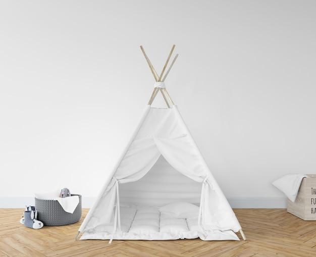 Детская комната с белым вигвамом