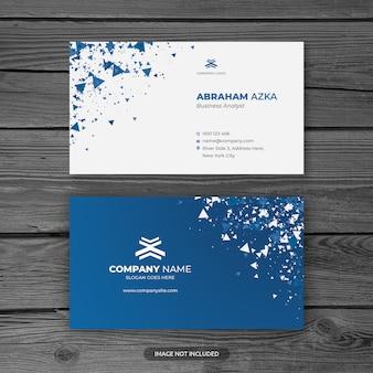 Современный синий профессиональный шаблон визитной карточки