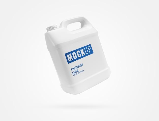 Белый галлон контейнер макет
