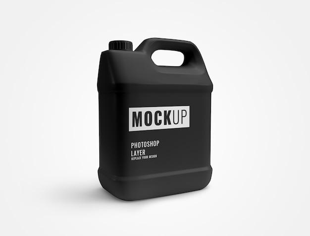 Черная бутылка галлона моющего средства