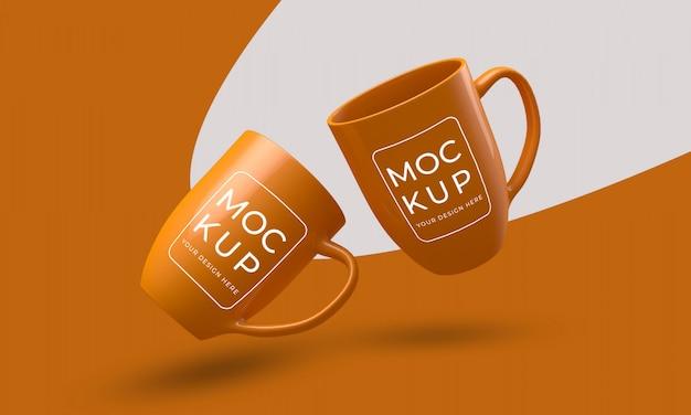 コーヒーカップマグモックアップ