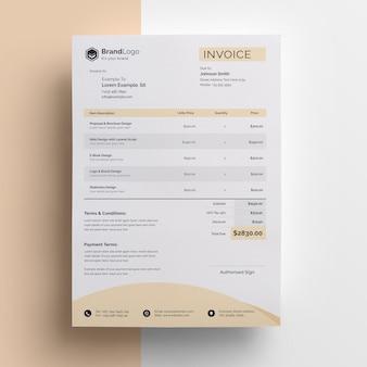 ビジネス現代の請求書テンプレート