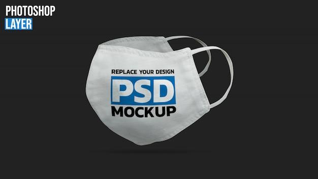 Маска для лица макет дизайн