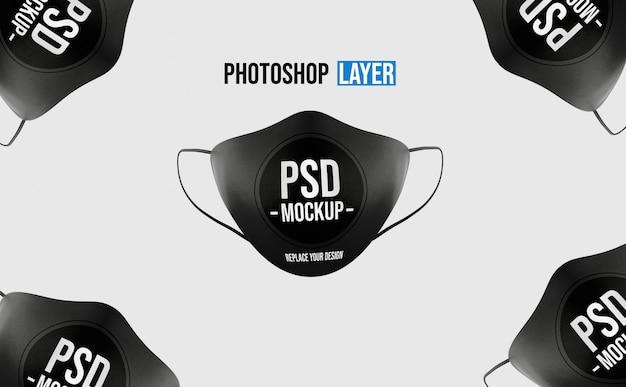 リアルなフェイスマスクのモックアップデザイン