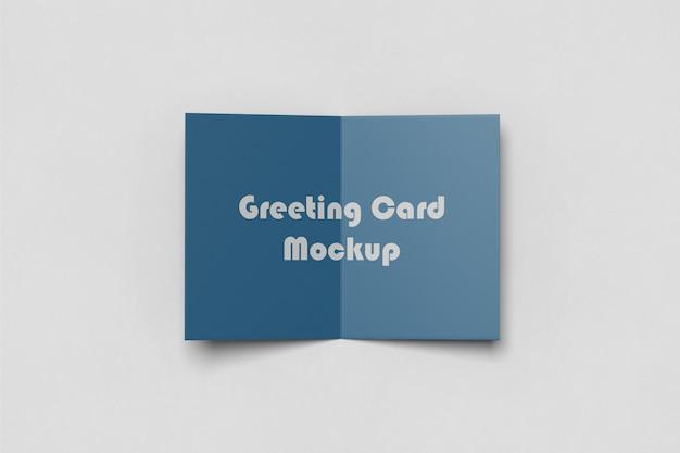 グリーティング/招待カードのモックアップ