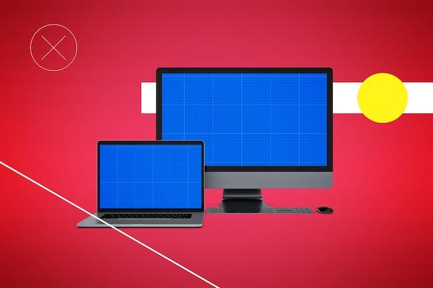 Компьютер и ноутбук макет