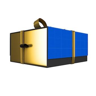 ゴールド&ダークギフトボックスモックアップ