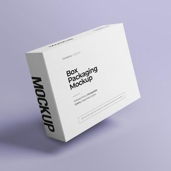 Макет коробки со сменным цветом