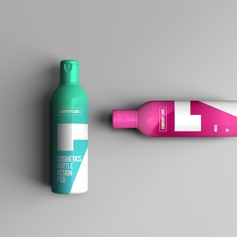 化粧品ボトルのモックアップ