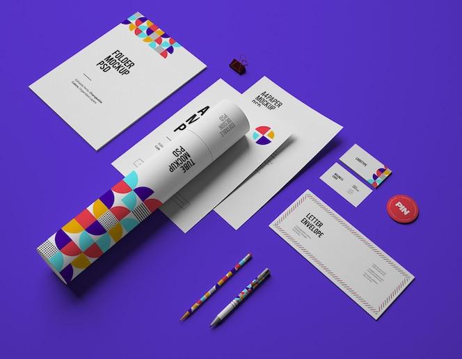 Макет с визитками