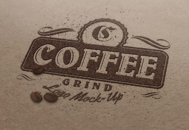 ロゴまたはテキストのモックアップテンプレート-コーヒー