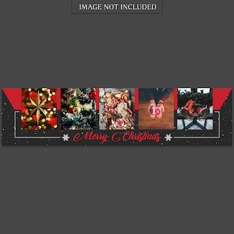 Рождественский и счастливый новогодний шаблон баннера и фотомакет