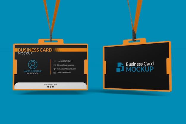 Макет визиток в удостоверении личности