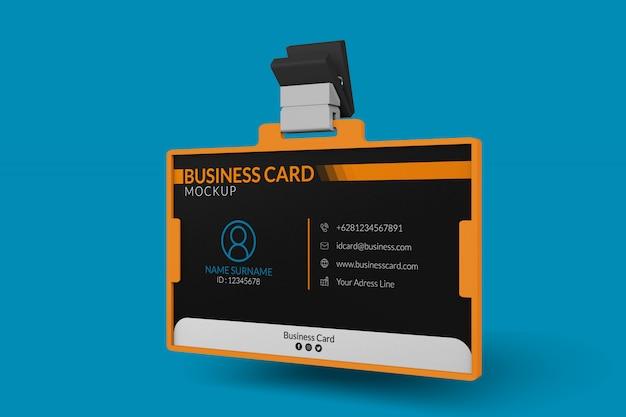 Макет визитки в удостоверении личности