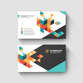 Личная карточка с абстрактным геометрическим фоном