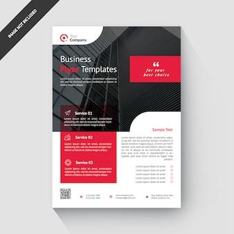 赤いビジネス創造的な企業のチラシテンプレート