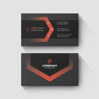 Минимальная красная визитная карточка
