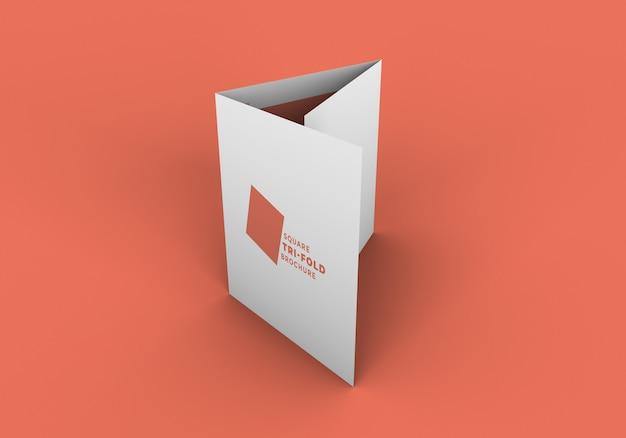 四つ折り三つ折りパンフレットモックアップ