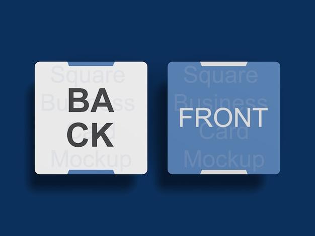 Макет визитной карточки с закругленными углами