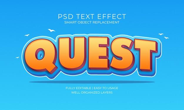 Квест текстовый эффект