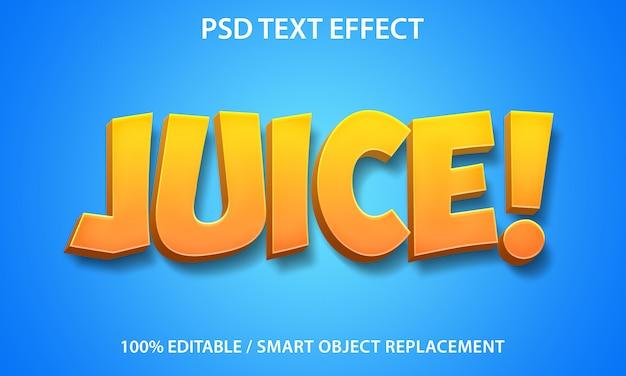 Редактируемый текстовый эффект сок