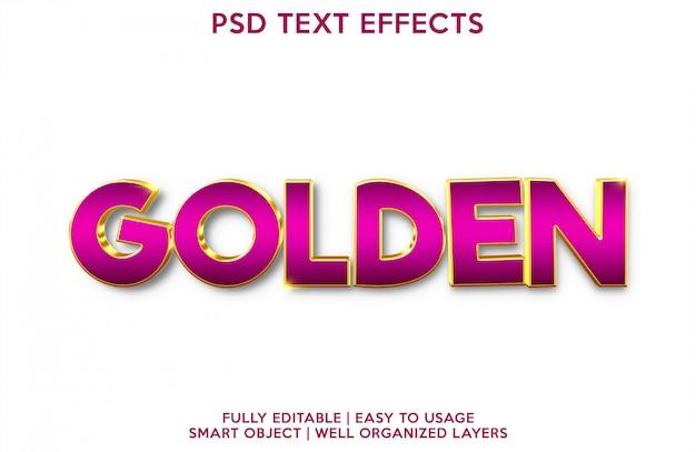 黄金のテキスト効果