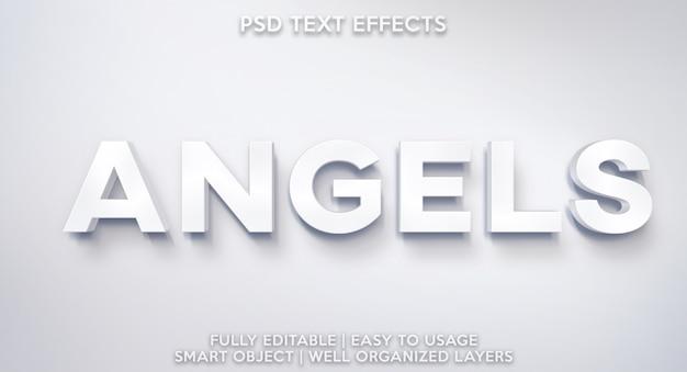 Текстовый эффект ангелов
