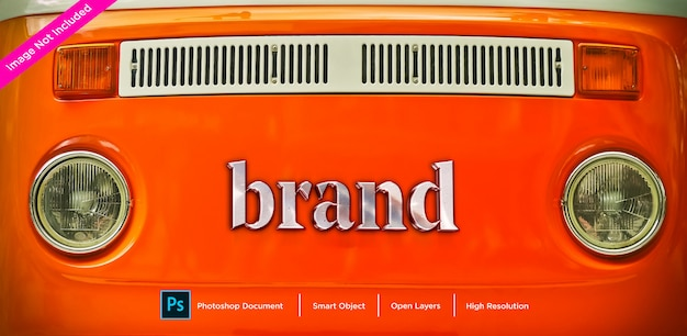 Металл фирменный знак текст эффект дизайн