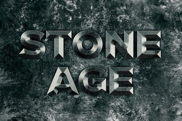 Каменный век, каменный текст в стиле эффекта