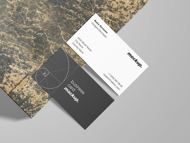 Современные визитки на гранж шаблон текстуры макета