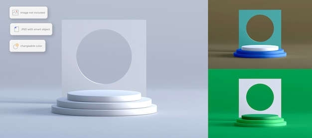 シンプルな背景オブジェクトのある演壇