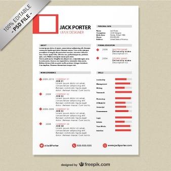 自由な創造的な履歴書テンプレートのダウンロード