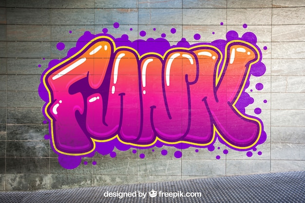 Городской граффити-макет