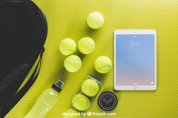 タブレットでのテニスモックアップ