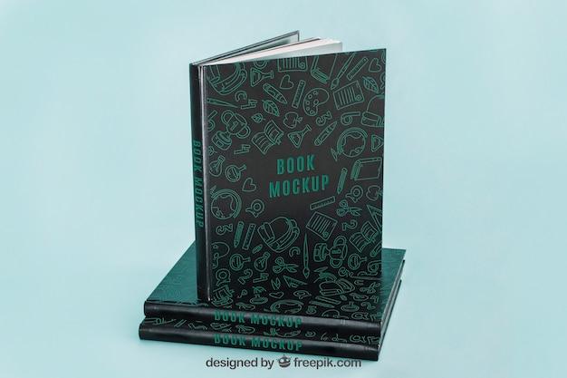Макет темной книги