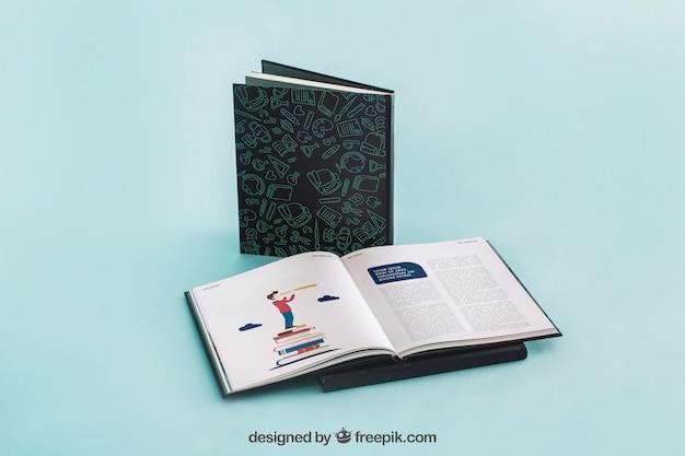 Открытый макет обложки книги