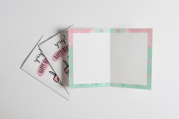 Пустой макет поздравительной открытки