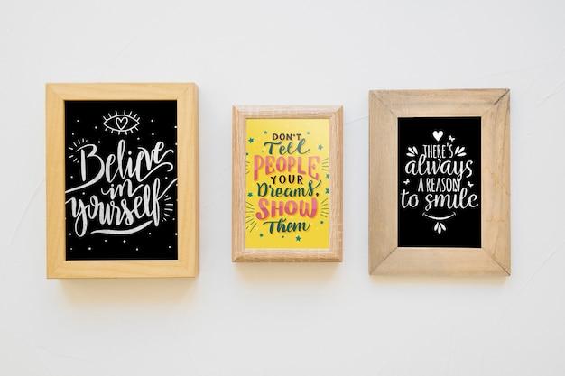 Цитата и рамка макет