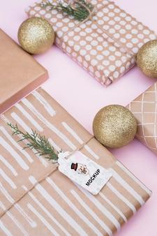 Современный макет коробки с концепцией рождества
