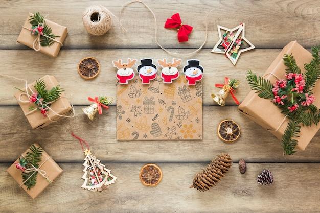 カバーや手紙のクリスマスモックアップ