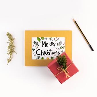 Макет письма с концепцией рождества