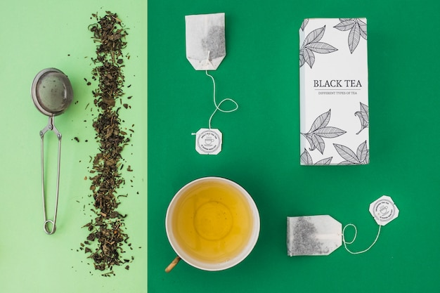 Творческий чайный макет