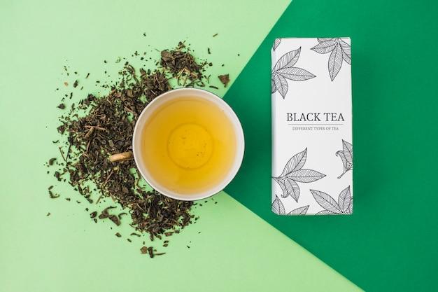 創造的な茶のモックアップ