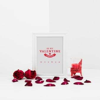 Рамка макет с концепцией валентина