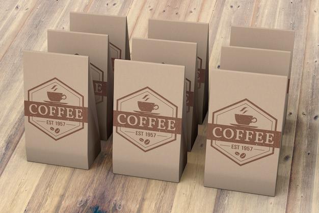 コーヒーバッグのモックアップ