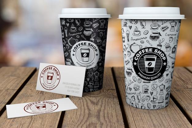 Макет канцелярских товаров для кафе