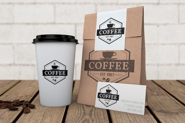 コーヒーショップ用文房具モックアップ