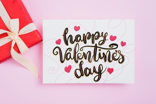 Валентинка макет с подарками
